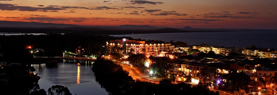 Noosa night view